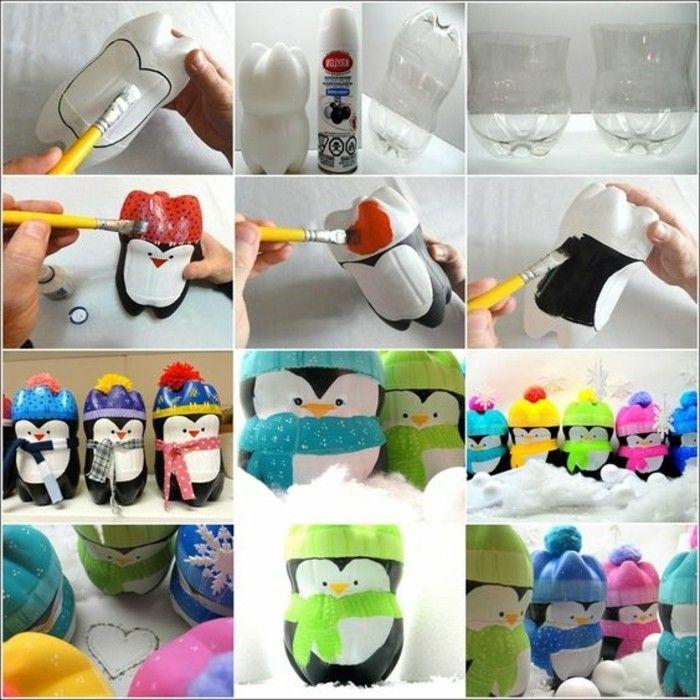 lapins, chats, pingouins, plein d'idées de rangement en bouteilles recyclés