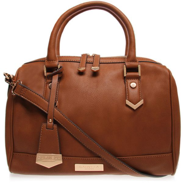 Carvela Kurt Geiger Chelsea Bowling Bag Tan found on Polyvore