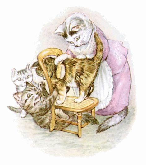 Beautiful illustration from Beatrix Potters- The Tale of Tom Kitten