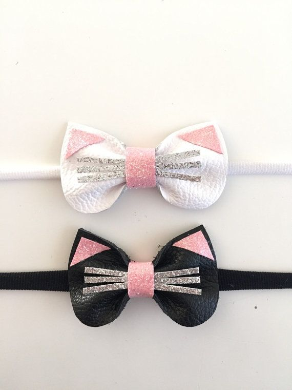Mini clip de Kitty o diadema por KerleyGirls en Etsy