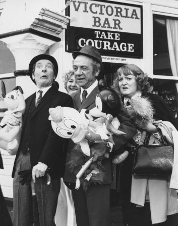 Kenneth Williams, Joan Sims,  Sidney James and Patsy Rowlands enjoying their day out in Brighton in Carry On At Your Convenience.