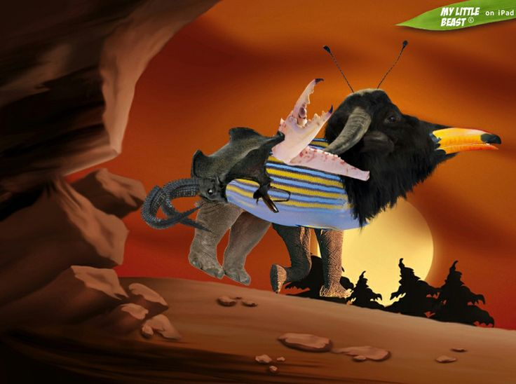 Sunset with another strange creature!  Created with the awesome My Little Beast app. Download here: LITE: https://itunes.apple.com/app/id824876886 FULL: https://itunes.apple.com/app/id815685056  #games, #ipad, #kids, #animals