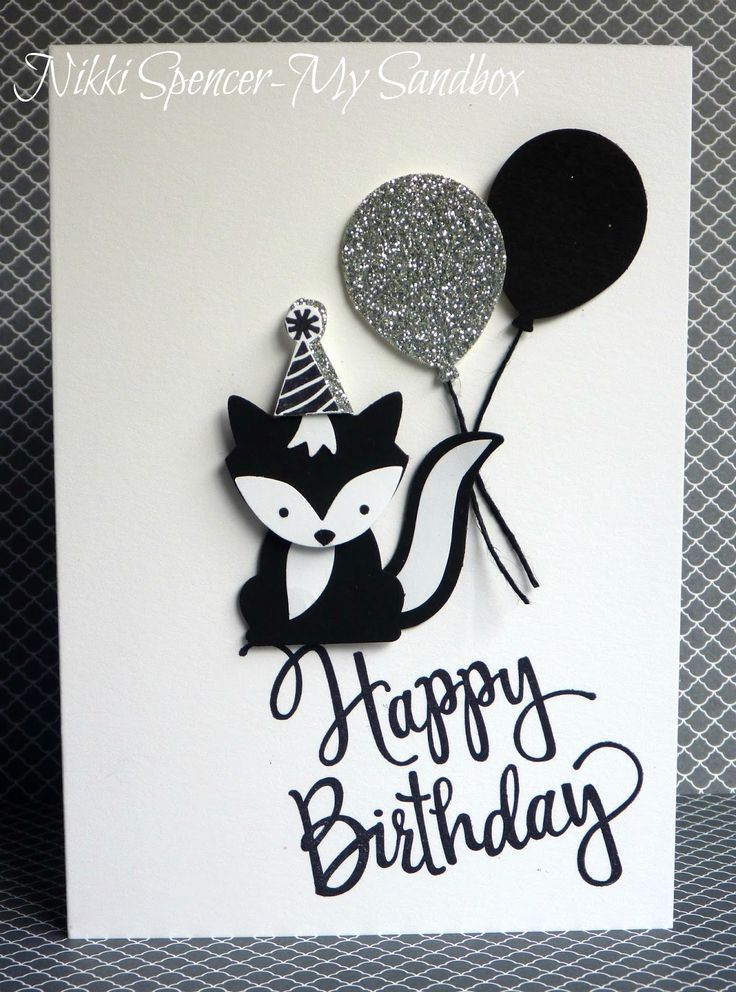 385 best cards sophisticated black white images on pinterest handmade birthday card showcasing foxy friends suite black and white bookmarktalkfo Images