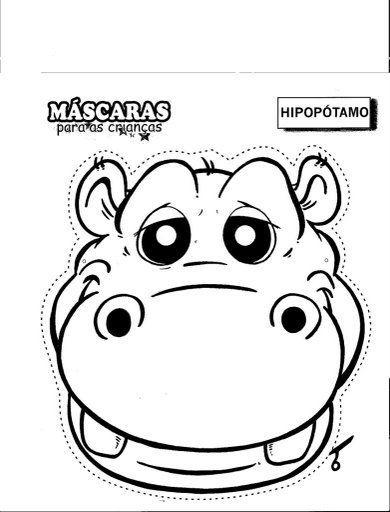 hipopótamo   Masks   Pinterest   Coloring pages, Animal masks y Crafts