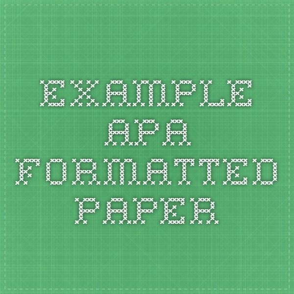apa formatted references