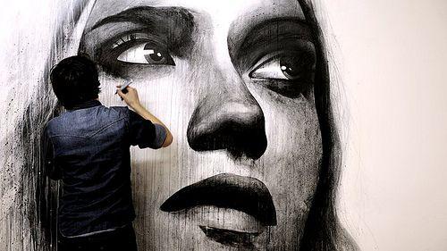 : Street Artists, Blank Wall, Benslow, Drawings Art, Street Food, The Artists, Wall Murals, Heart Art, Ben Slow
