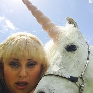 When she got a selfie with a unicorn. | 23 Times Rebel Wilson Owned Social Media