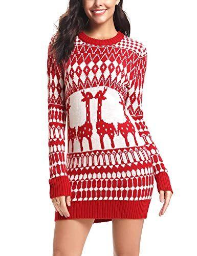 Enjoy exclusive for iClosam Women\u0027s Ugly Christmas Sweater Reindeer