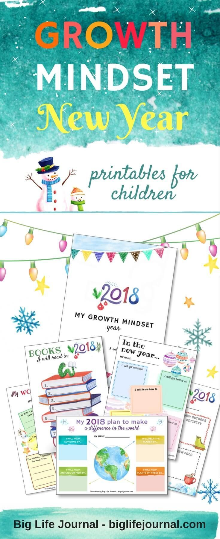 Growth Mindset New Year Kit (PDF) A set of 15 growth mindset activities for children! Includes growth mindset building printable worksheets ideal for home or classroom.