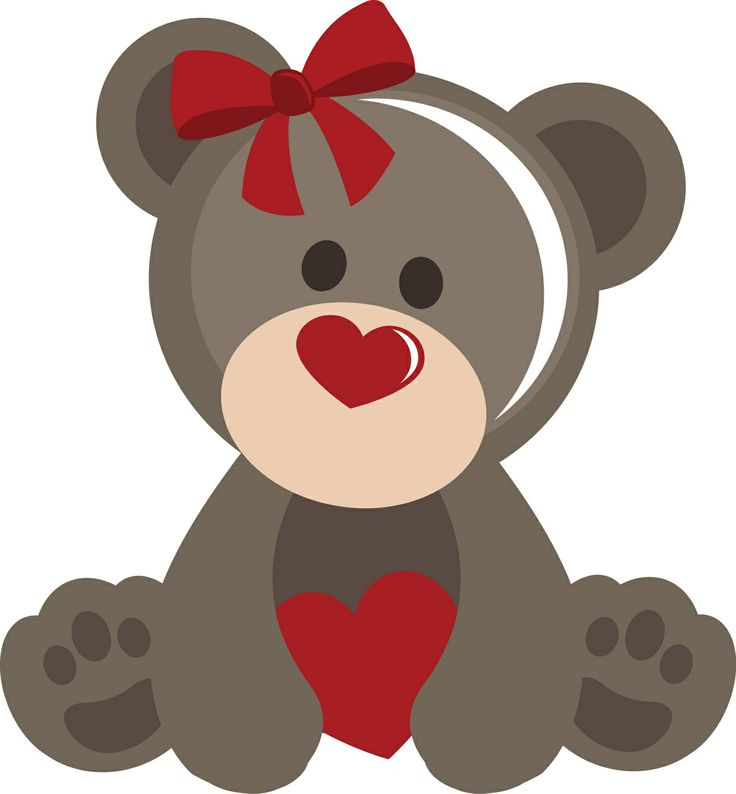 PPbN Designs - Girl Valentine Bear, $0.50 (http://www.ppbndesigns.com/girl-valentine-bear/) #SVG,#cuttingfiles,#silhouetteamerica,#SVGfiles