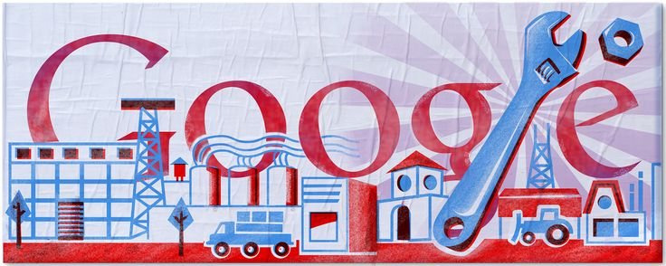 Labour Day 2011 [День труда] /This doodle was shown: 01.05.2011 /This is global doodle. It was shown for all countries