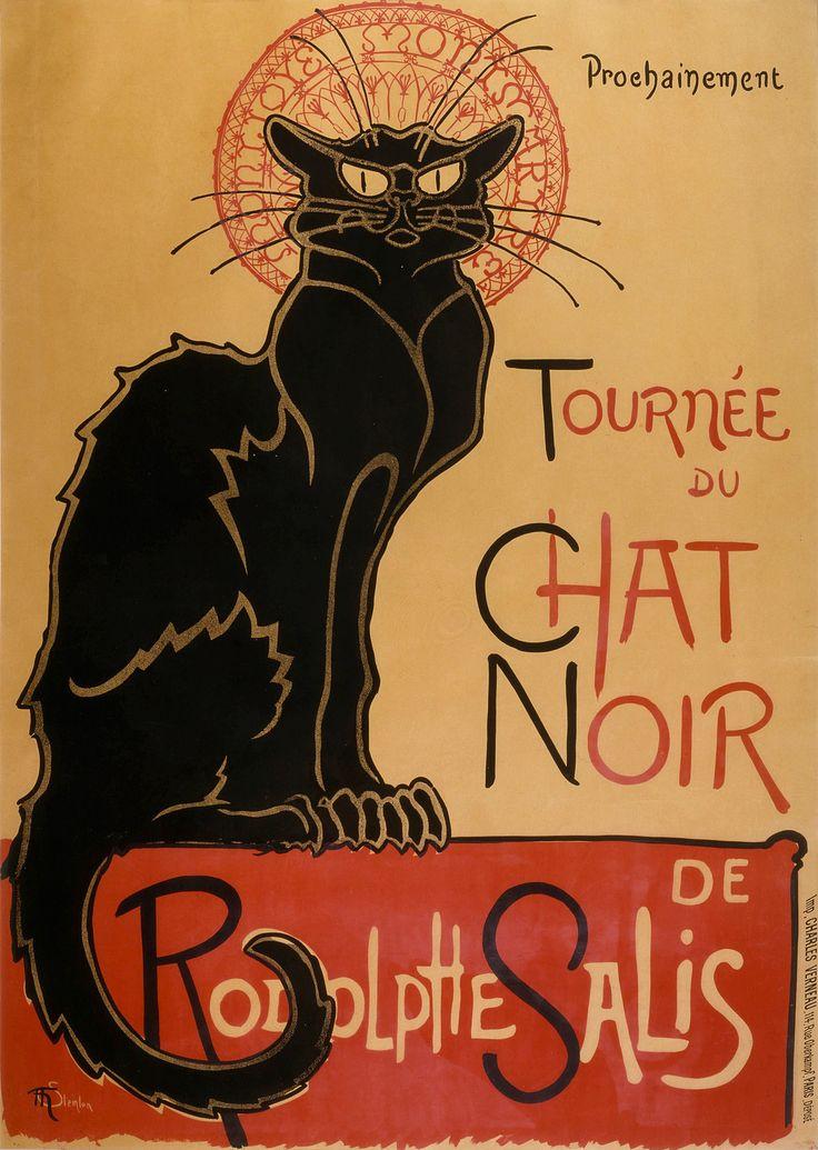 Tournee Du Chat Noir De Rodolphe Salis 1896 Poster … Art