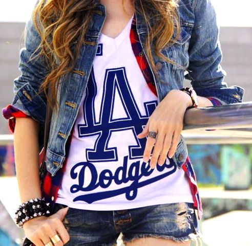 Looking good in this Dodger outfit!