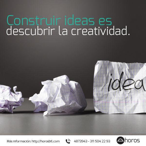 Buenos días. En esta semana desarrolla tu capacidad creativa para construir novedosas ideas en tus proyectos profesionales. Feliz semana te desea Horos BTL.