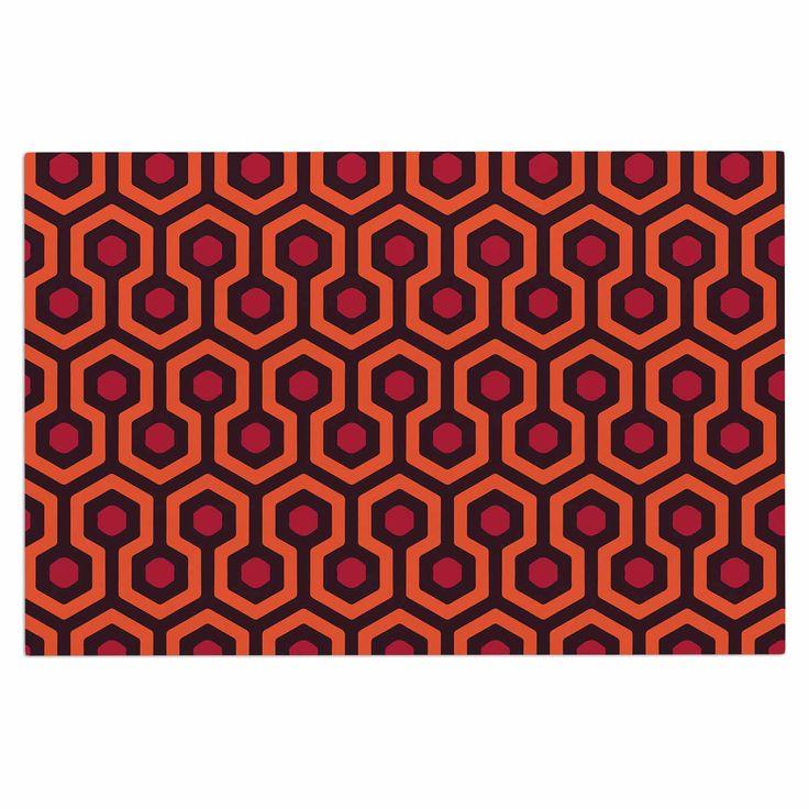 """Alias """"The Overlook"""" Orange Abstract Decorative Door Mat"""