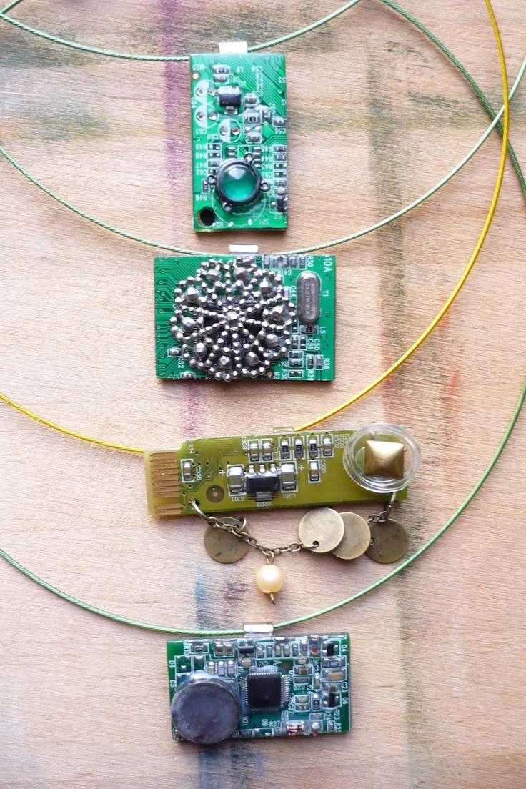 circuit board necklaces