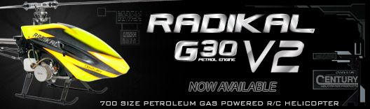 Radikal G30 v2 Petroleum Gas Powered RC Helicopters