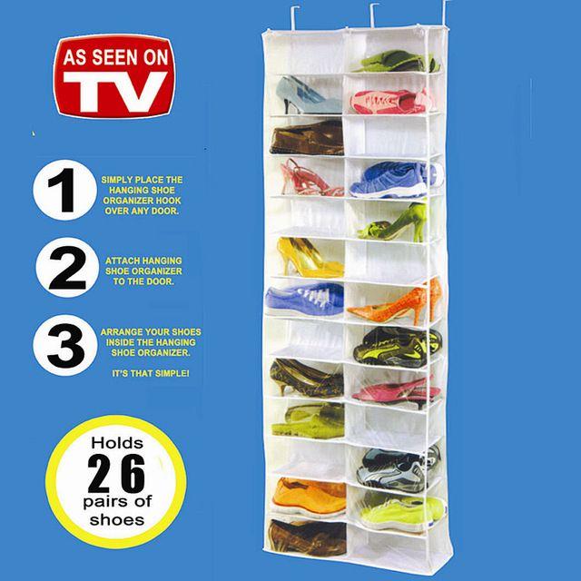 Online Shop 26 paar schoenenrek, Pocket Opknoping Organizer/Rack, Deur Opslag, Deur Ruimte Saver, Deur Organizer| Aliexpress| aliexpress Mobile