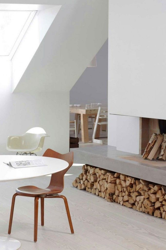 minimalist white scandinavian fireplace design ideas