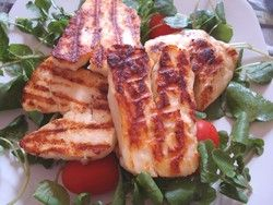 Delicious halloumi cheese is very versatile and can be grilled, fried, grated on pasta and is often eaten with melon.