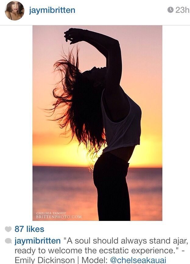 Cool picture I found on Instagram, go follow them! A girl posing for a sunset picture. Long hair, summer nights at the beach