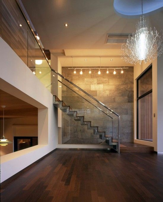 love the glass banister