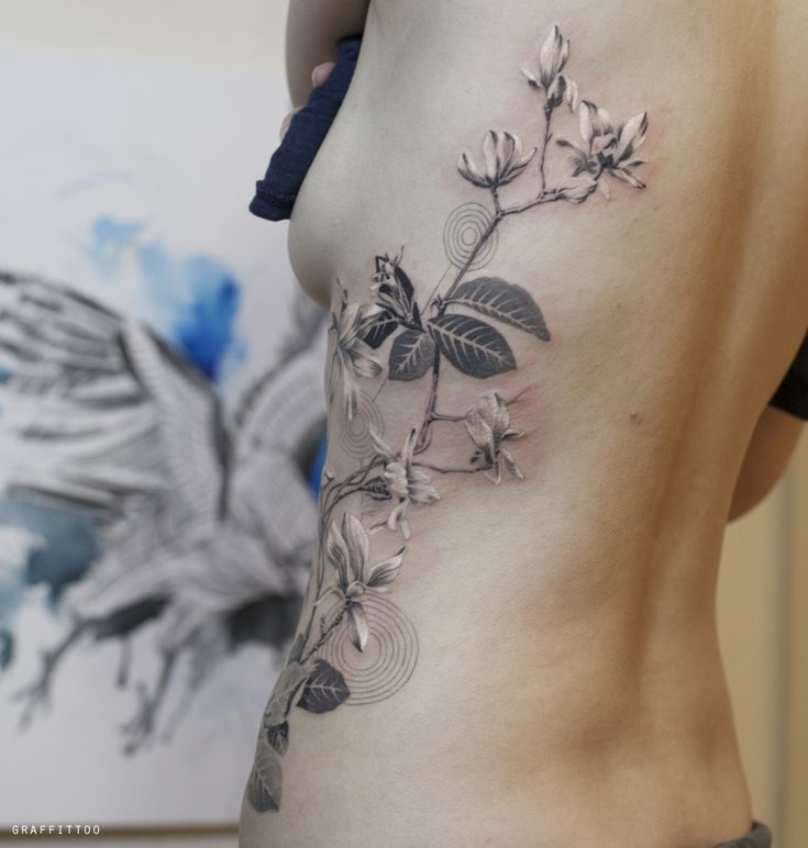 By Magnolia Flower Tattoo