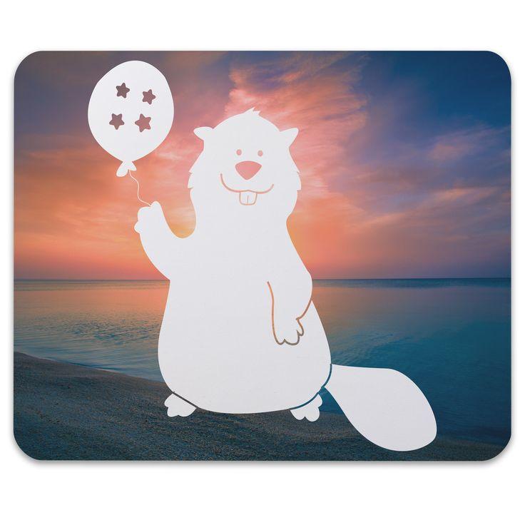 Mauspad Druck Biber mit Ballon aus Naturkautschuk  black - Das Original von Mr. & Mrs. Panda.  Ein wunderschönes Mouse Pad der Marke Mr. & Mrs. Panda. Alle Motive werden liebevoll gestaltet und in unserer Manufaktur in Norddeutschland per Hand auf die Mouse Pads aufgebracht.    Über unser Motiv Biber mit Ballon  Biber sind Nagetiere, die es lieben, Staudämme zu bauen und zu tauchen. Sie sind nach den Wassermeerschweinchen die größten lebenden Säugetiere der Welt. Der Biber kann mit seinen…