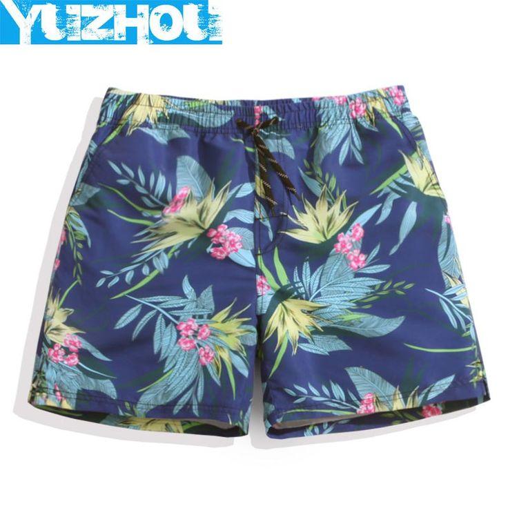 Yuzhou beach shorts men swimwear bermudas swimming trunks surf flowers summer sport running shorts swimwear joggers mens praia