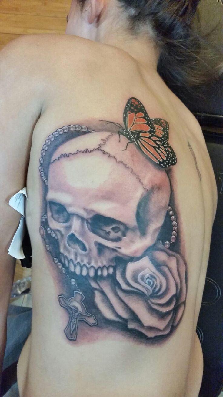 New tat so in love 😍 Skull tattoo, Tattoos, Tatting