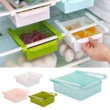 Plastikowe Kuchnia Lodówka Lodówka Zamrażarka Półka Regał magazynowy Uchwyt Pull-out Szuflada Organizator Przestrzeń saver(China (Mainland))