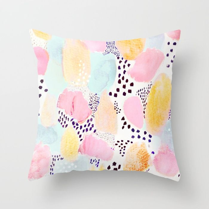 sugar&ice by Danse de Lune 💕💕 pillows  Cute and kawaii designs on pillows  for teens, girls and kids. Find decorative pillows for bedroom, with sayings or beautiful designs. #design #decor #society6 #cute #kawaii #pillow #pillows #sboar #lovely #interior #home #bedroom #bedroomdecor #animals #pets #wild #flower #floorpillow #floor #mermaid