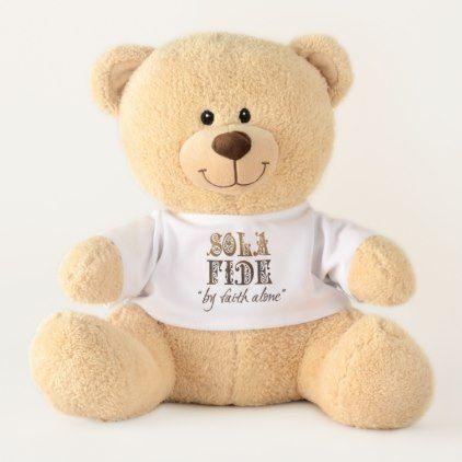 "unBEARably Cute ""Sola Fide"" Teddy (Medium) Teddy Bear - home gifts ideas decor special unique custom individual customized individualized"