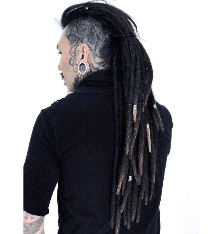 Long Mohawk Dreads For Men