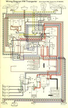 Wiring Diagram VW Transporter The Samba Vw parts