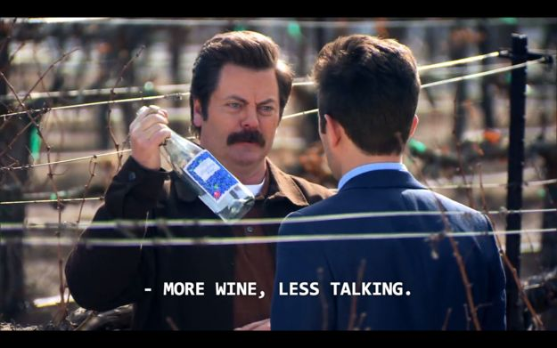 When you don't want to hear about your friend's breakup for the 1038572498745th time. | 17 Times Ron Swanson Perfectly Summed Up Your Relationship With Food