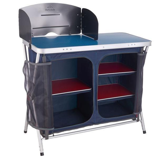 Camping-Küchenschrank zusammenklappbar blau