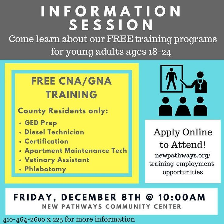 Join us on Friday December 8th for our community training programs open house! . Learn about how you can take advantage of FREE training programs in Baltimore . Register online or contact sturner@newpathways.org for more information . See you there!