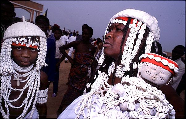 Africa | Photo taken on National Voodoo Day in Benin.  Voodoo is widely followed in Benin | © Dan White