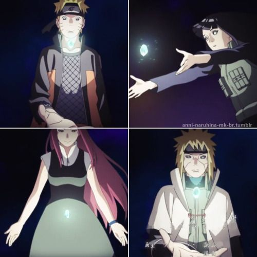 Naruto is a lot like Kushina. And on the other side of the coin Hinata is a lot like Minato. It creates a balance.