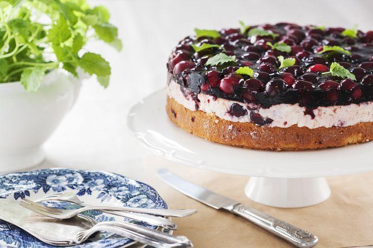 #sernik z czereśniami na zimno. #cake #cherries #delektujemy #desert