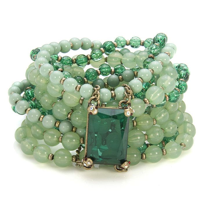 jadeCrafts Ideas, Beads Bracelets, Style, Green Bracelets, Emeralds Green, Colors, Jade, Beads Cuffs, Jewelry