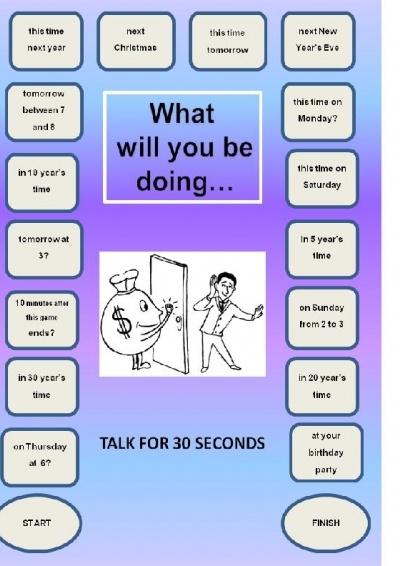 futur continous  Speaking Game