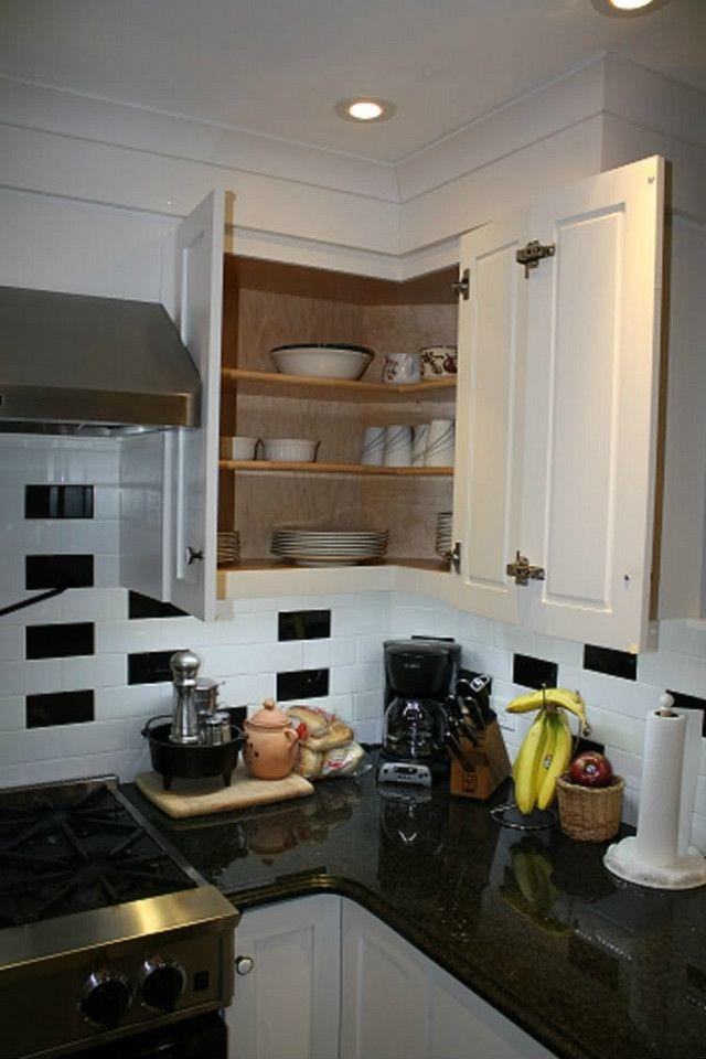 upper corner cabinet solution  kitchen ideas  pinterest