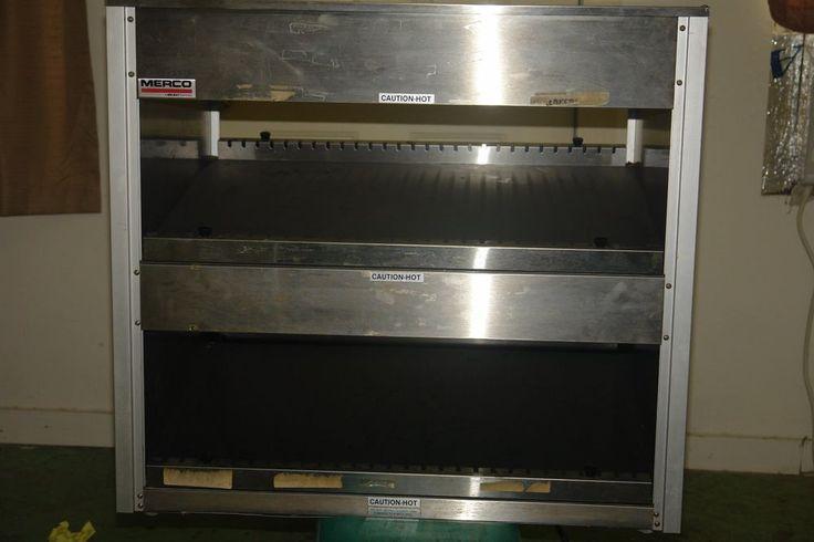 Merco 2T 5W 3224 2 Shelf PASS THUR Food Warmer Display #merco