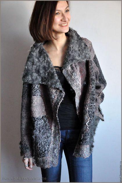 """Верхняя одежда ручной работы. Ярмарка Мастеров - ручная работа. Купить Куртка """"Невенград"""". Handmade. Темно-серый, войлок"""