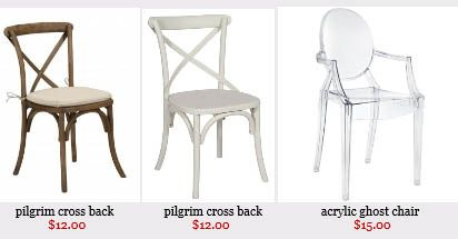 Chair and Table Rental Dallas TX