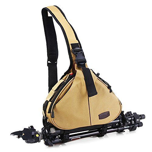 Zuoao Waterproof  Shockproof SLR DSLR Camera Bag Sling Backpack Padded Partition Insert Camera Case for Canon Nikon Sony Pentax Olympus Panasonic Samsung * Want to know more, click on the image.Note:It is affiliate link to Amazon. #followback