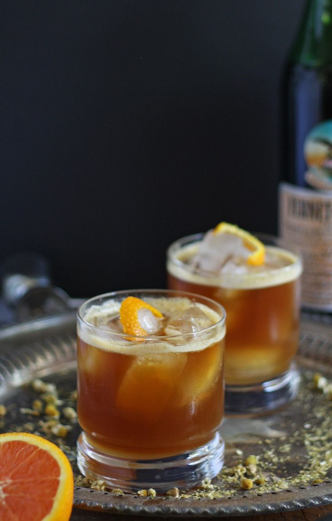 Orange Italian Mule - a refreshing and aromatic herbal take on the moscow mule! #fernetbranca #cocktail #sp