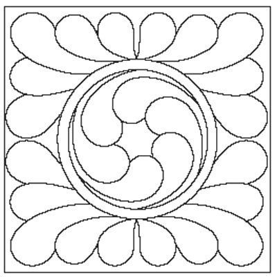 Great site for free quilting motifs by therese quilting for Quilting templates free